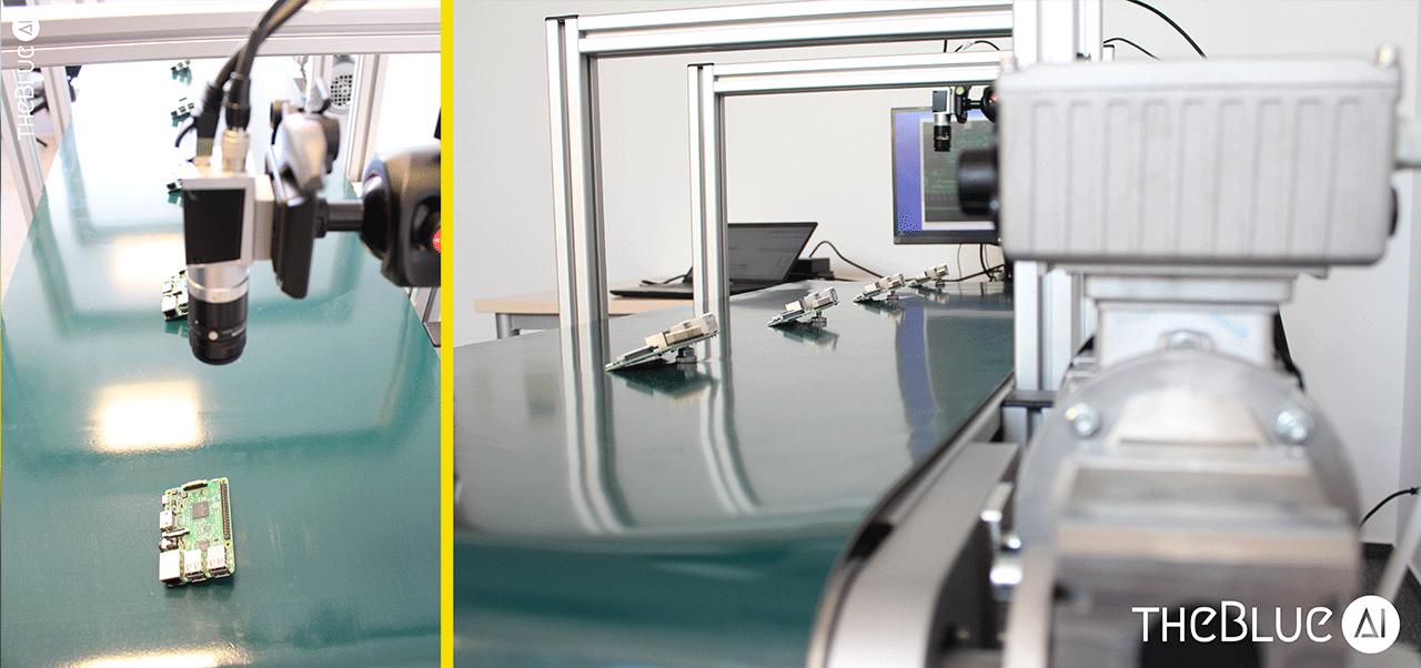 Blue Quality control image process